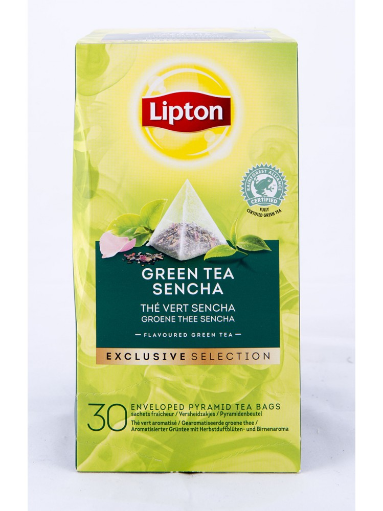 Lipton Exlcusive Selection Green thee Sencha 30 stuks